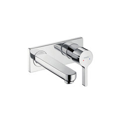 hansgrohe Metris S Single lever basin mixer for concealed installation with spout 165 mm wall-mounted | Wash basin taps | Hansgrohe