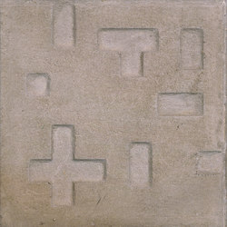Pictorial pavements | Piet Mondrian | Concrete tiles | Santa & Cole