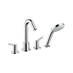 hansgrohe Talis 4-hole rim mounted bath mixer | Bath taps | Hansgrohe