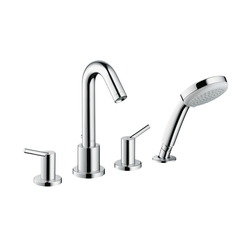 Hansgrohe Talis S 4-Hole Rim Mounted Bath Mixer | Bath taps | Hansgrohe