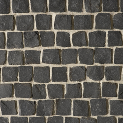 Basalt schwarz Pflaster, gespalten | Pflastersteine | Metten