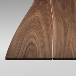 Solid surface Walnut with maple inlay  | Facing panels | Boleform