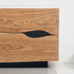Drawer | sideboard Oak beveled | Wood veneers | Boleform