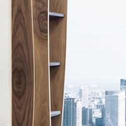 Furniture structures | shelves Walnut with maple inlay | Veneers | Boleform