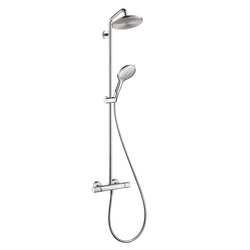 Hansgrohe Raindance Select 240 Showerpipe EcoSmart with 450mm shower arm swivelling DN15 | Shower columns / panels | Hansgrohe