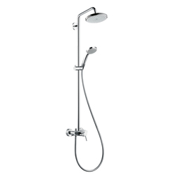 Hansgrohe Croma 220 Showerpipe with Single Lever Mixer DN15 | Shower columns / panels | Hansgrohe