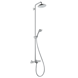 Hansgrohe Croma 220 Showerpipe for bath tub DN15 | Shower columns / panels | Hansgrohe