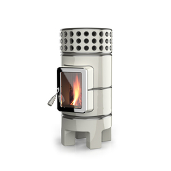 Round Stack slim | Wood burning stoves | La Castellamonte