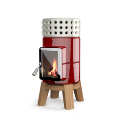 Round Stack wood | Wood burning stoves | La Castellamonte