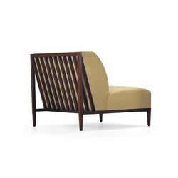 Rosenau Slat Back Lounge Chair | Armchairs | Bolier & Company