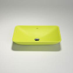 blu•stone rectangular countertop basin | Lavabos | Blu Bathworks