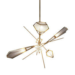 HARLOW Large Chandelier - Brass | General lighting | Gabriel Scott