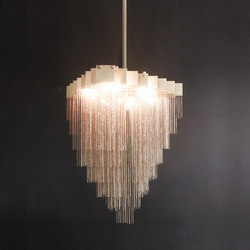 KELLY Chandelier - Brass | Ceiling suspended chandeliers | Gabriel Scott