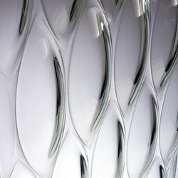 Ellisse kiln-formed glass | Vetri decorativi | Joel Berman Glass Studios