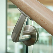 FF-01 glass mounted handrail bracket | Handrails | componance