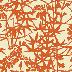 Bamboo Blossoms Orange | Rugs / Designer rugs | Emma Gardner Design