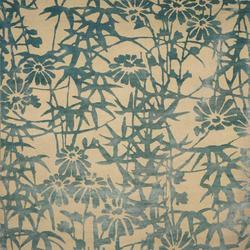 Bamboo Blossoms Blue | Rugs / Designer rugs | Emma Gardner Design