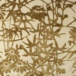 Bamboo Blossoms Green | Formatteppiche / Designerteppiche | Emma Gardner Design