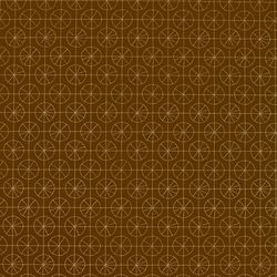 Pinwheel Chocolate w/Gold | Wallcoverings | LULU DK