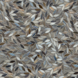Foliage Detroit Blues Glass Mosaic | Wandmosaike | Artistic Tile