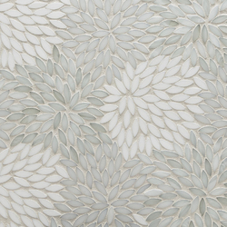 Estrella Be Bop White Glass Mosaic | Mosaïques murales | Artistic Tile