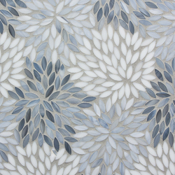 Estrella Grey Blend Glass Mosaic | Mosaïques murales | Artistic Tile