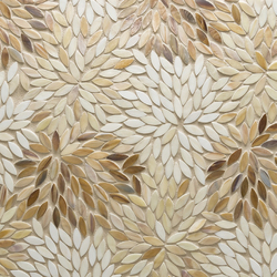 Estrella Cream Blend Glass Mosaic | Mosaïques murales | Artistic Tile