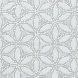 Flapper Floral Be Bop White Glass Mosaic | Wall mosaics | Artistic Tile