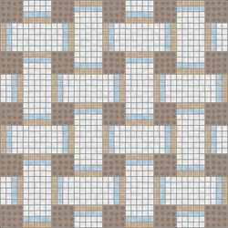 Basketweave Pebble | Mosaici vetro | Artaic