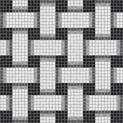 Basketweave Tuxedo | Glass mosaics | Artaic
