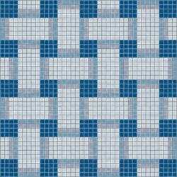 Basketweave Oceano | Mosaïques verre | Artaic