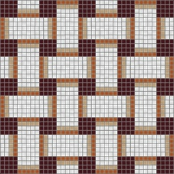 Basketweave Cinnamon | Mosaici vetro | Artaic
