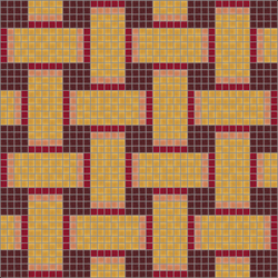 Basketweave Nectarine | Glass mosaics | Artaic