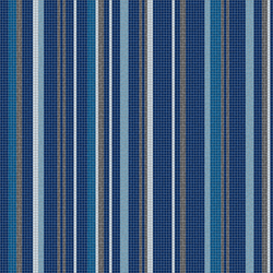 Varied Stripes Cobalt Blue | Glass mosaics | Artaic