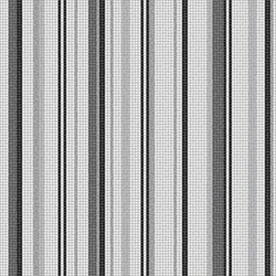 Varied Stripes Steel | Glass mosaics | Artaic