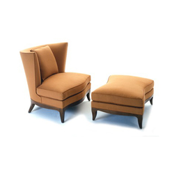 Geneva Club Chair/Ottoman | Lounge chairs | Donghia