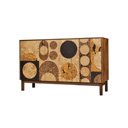 Circles Cork Mosaic Sideboard | Sideboards / Kommoden | Iannone