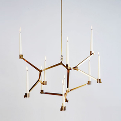 Agnes candelabra hanging 10 candles | Ceiling suspended chandeliers | Roll & Hill
