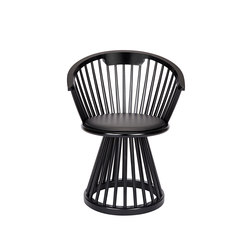 Fan Dining Chair Black | Visitors chairs / Side chairs | Tom Dixon