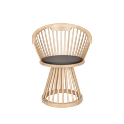 Fan Dining Chair Natural | Visitors chairs / Side chairs | Tom Dixon