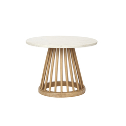 Fan Table Natural with Screw Small | Mesas auxiliares | Tom Dixon