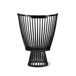 Fan Chair Black | Fauteuils d'attente | Tom Dixon