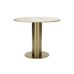 Screw Table Top Large Tube Base Brass | Cafeteria tables | Tom Dixon