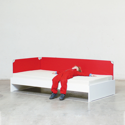 Bed with cloth border | Kids beds | Minimöbl