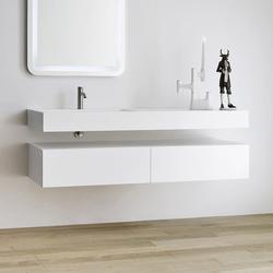 Unico Plan avec vasque integré | Meubles sous-lavabo | Rexa Design