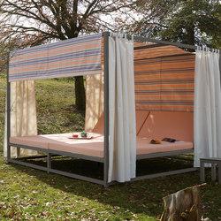 Midi Outdoor Cama Dosel | Asientos isla de jardín | Sistema Midi
