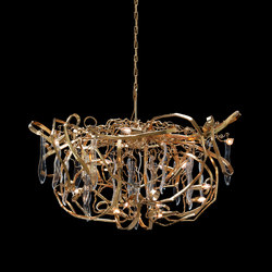 Delphinium customised gold chandelier | Lámparas de techo | Brand van Egmond