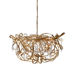 Delphinium customised gold chandelier | Ceiling suspended chandeliers | Brand van Egmond