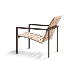 Natal Alu Teak Easy chair | Fauteuils de jardin | Tribù
