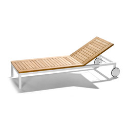 Sonnenliege teak  SUN LOUNGERS WITH SEAT IN TEAK WOOD - High quality designer SUN ...